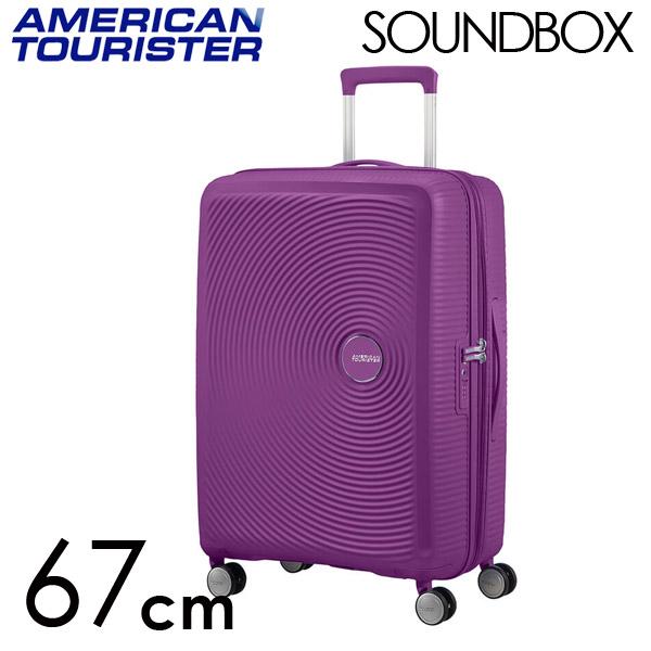 Samsonite スーツケース American Tourister Soundbox アメリカンツーリスター サウンドボックス EXP 67cm パープルオーキッド 84473-2011