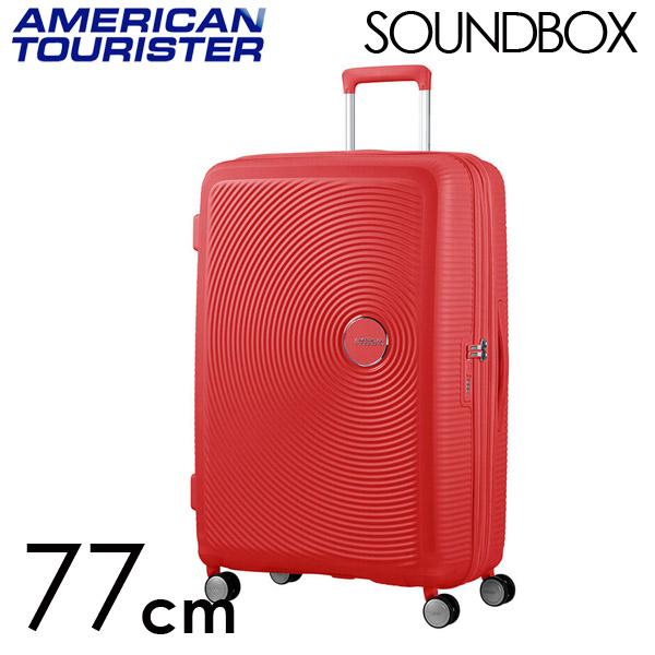 Samsonite スーツケース American Tourister Soundbox アメリカンツーリスター サウンドボックス EXP 77cm コーラルレッド 88474-1226【他商品と同時購入不可】