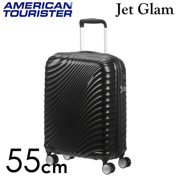 Samsonite スーツケース American Tourister Jetglam アメリカンツーリスター ジェットグラム 55cm メタリックブラック 122816-2368