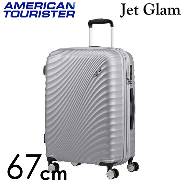 Samsonite スーツケース American Tourister Jetglam アメリカンツーリスター ジェットグラム 67cm EXP メタリックシルバー 122817-1546
