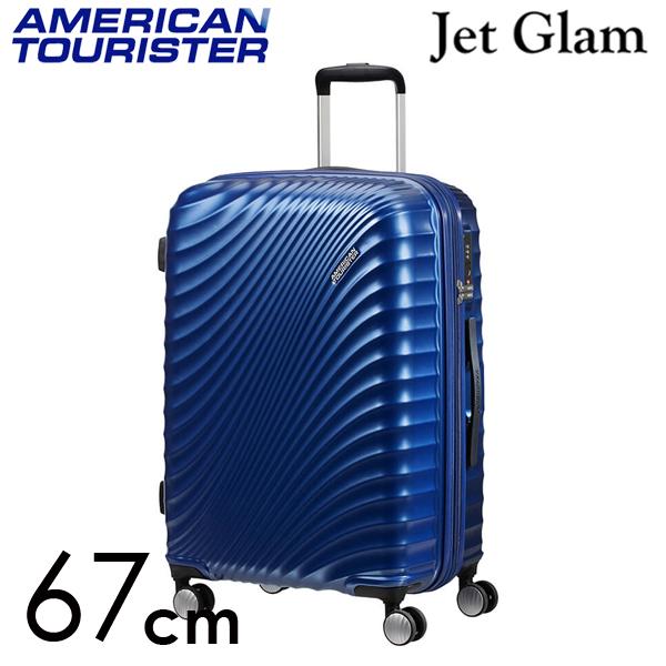 Samsonite スーツケース American Tourister Jetglam アメリカンツーリスター ジェットグラム 67cm EXP メタリックブルー 122817-1541