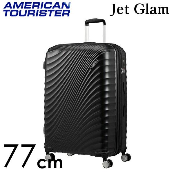 Samsonite スーツケース American Tourister Jetglam アメリカンツーリスター ジェットグラム 77cm EXP メタリックブラック 122818-2368【他商品と同時購入不可】