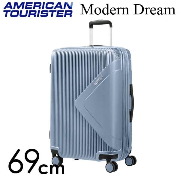 Samsonite スーツケース American Tourister Soundbox アメリカンツーリスター モダンドリーム 69CM グレーブルー 110081-1984