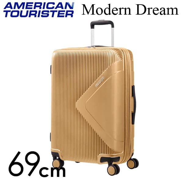 Samsonite スーツケース American Tourister Soundbox アメリカンツーリスター モダンドリーム 69CM ゴールド 110081-1366