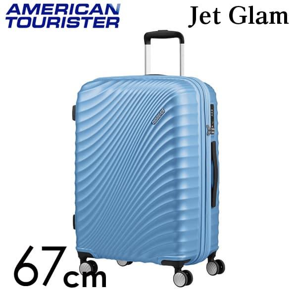 Samsonite スーツケース American Tourister Soundbox アメリカンツーリスター ジェットグラム 67CM メタリックパウダーブルー 122817-8328