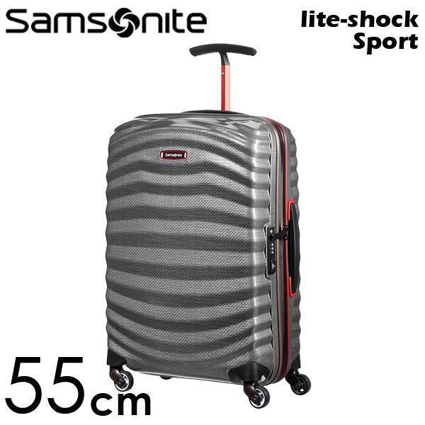 Samsonite スーツケース Lite-Shock Sport ライトショック スポーツ 55cm エクリプスグレー/レッド 105262-6834