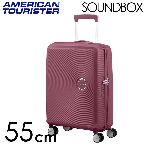 Samsonite スーツケース American Tourister Soundbox アメリカンツーリスター サウンドボックス EXP 55cm ダークバーガンディ 88472-2569