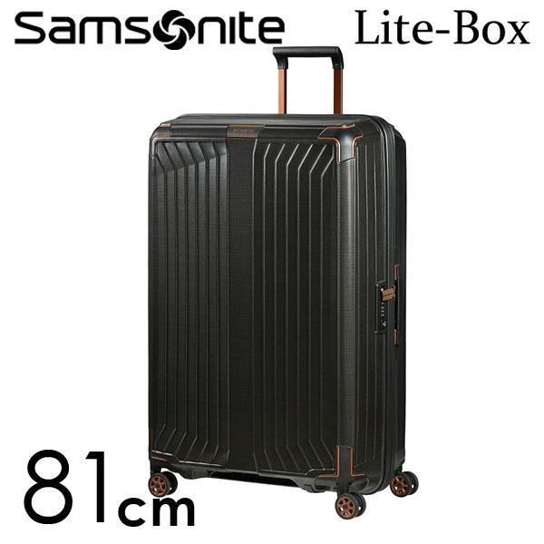 Samsonite スーツケース Lite-Box ライトボックス 81cm ブラックカッパー 79301-4340