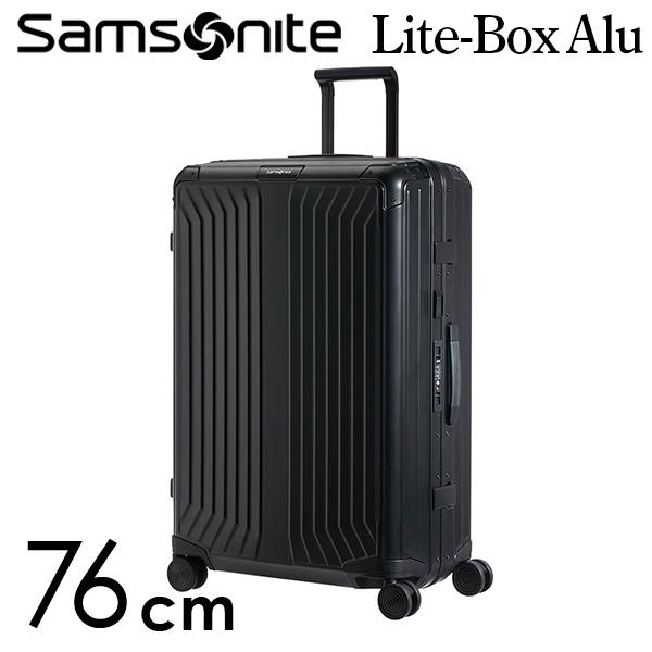 Samsonite スーツケース Lite Box Alu Spinner ライトボックス アル スピナー 76cm ブラック 122707-1041