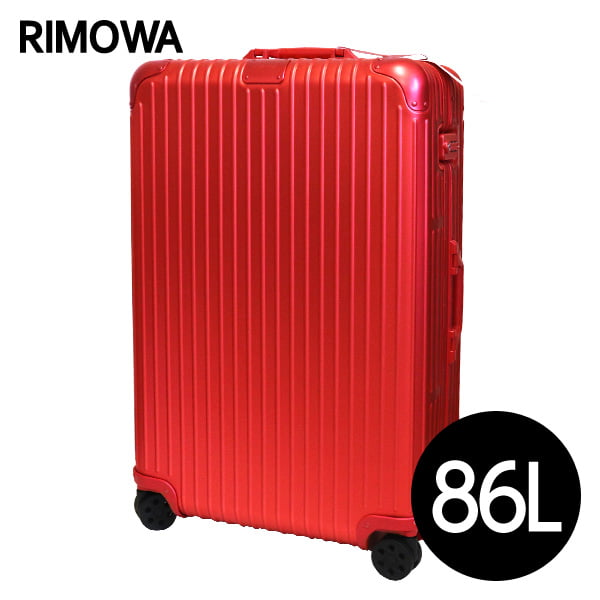 リモワ RIMOWA スーツケース オリジナル チェックイン L 86L スカーレットレッド ORIGINAL Check-In L 925.73.06.4【他商品と同時購入不可】