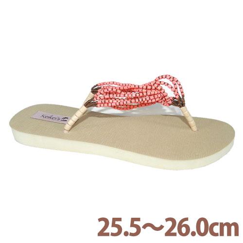 Keikeis ココナッツループサンダル 8.5~9(25.5~26.0cm) ピンク KCOC-003