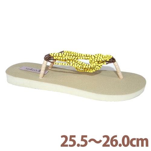Keikeis ココナッツループサンダル 8.5~9(25.5~26.0cm) イエロー KCOC-004