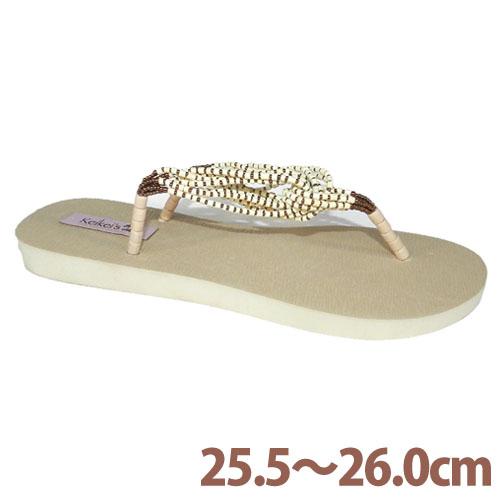 Keikeis ココナッツループサンダル 8.5~9(25.5~26.0cm) アイボリー KCOC-006