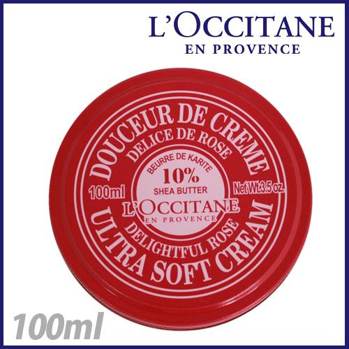 loccitane シア ソフトボディクリーム ディライトフルローズ 100ml 01CR100K14