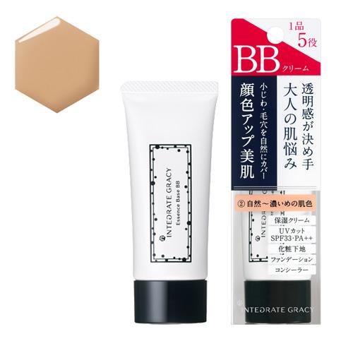 資生堂 インテグレート グレイシィ エッセンスベースBB 2 自然~濃いめの肌色 40g