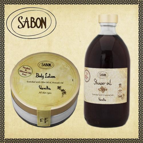 SABON シャワーオイル・ボディローション ジャー セット バニラ