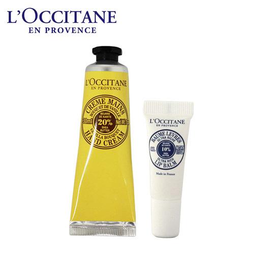 ロクシタン シア リップ&ハンドクリーム バニラブーケ 2点セット / L'OCCITANE