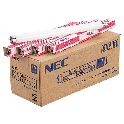 NEC 一般形蛍光灯 グロースタータ形 直管蛍光灯 10W形 昼光色 25本