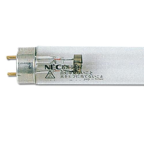 NECライティング 殺菌ランプ 直管蛍光灯 グロースタータ形 15W形 G13口金 10本 GL15