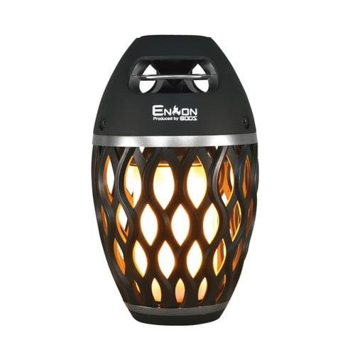ホノベ電機 Bluetoothスピーカー 炎音 en-on ブラック HNB-RS1