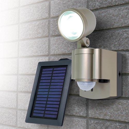 【売切れ御免】朝日電器 屋外用ソーラー LEDセンサーライト 1灯 3W ESL-301SL