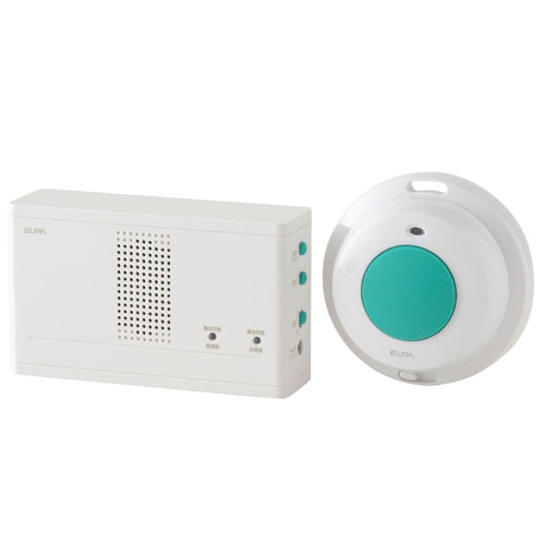 【売切れ御免】朝日電器 ワイヤレスチャイム 防水押ボタンセット EWS-1004