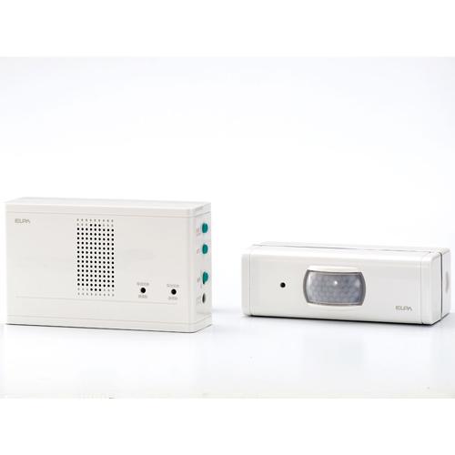 朝日電器 ワイヤレスチャイム ワイヤレスチャイムセンサー送信器セット ホワイト EWS-1003