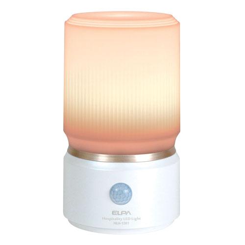 朝日電器 LEDライト もてなしのあかり 据置型 小型 3W 電球色LED ホワイト HLH-1201(PW)