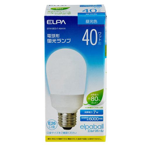 【売切れ御免】電球形蛍光灯 40Wタイプ E26 昼光色 A型 EFA10ED/7-A041H