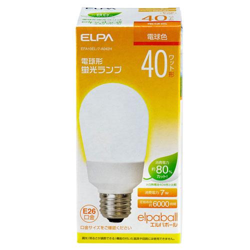 【売切れ御免】電球形蛍光灯 40Wタイプ E26 電球色 A型 EFA10EL/7-A042H