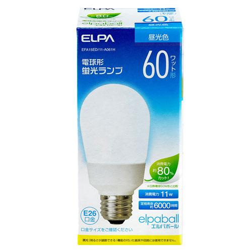 【売切れ御免】電球型蛍光灯 60Wタイプ E26 昼光色 A型 EFA15ED/11-A061H
