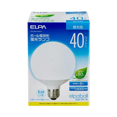 【売切れ御免】電球形蛍光灯 40Wタイプ E26 昼光色 G型 EFG10ED/8-G041H