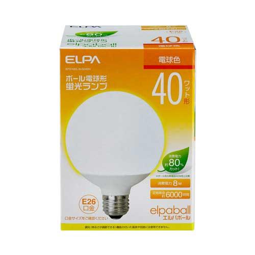 【売切れ御免】電球形蛍光灯 40Wタイプ E26 電球色 G型 EFG10EL/8-G042H