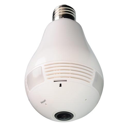 グランシールド 防犯カメラ Dive-y360(ダイビー360) 360° Wi-Fi電球型全方位カメラ microSDXC128GB ホワイト GS360-LED