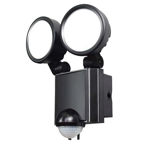ELPA 屋外用 LEDセンサーライト LED防雨センサーライト 白色LED 2灯 1200ルーメン AC電源コンセント式 ESL-SS802AC