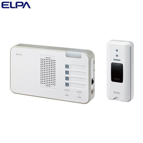 ELPA ワイヤレスチャイム ランプ付き受信器 押ボタンセット (受信器・送信器) EWS-S5230