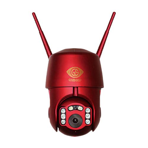 グランシールド 防犯カメラ Dive-yBOT-AI(ダイビー ボット アイ) クリムゾンレッド GS-DVYPTZ-101