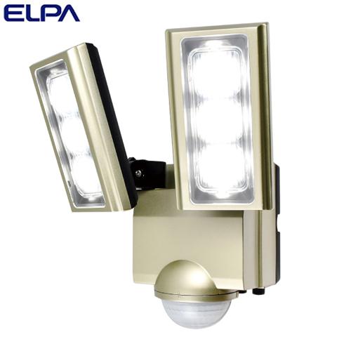 朝日電器 ELPA LEDセンサーライト 2灯 コンセント式 (AC電源) 屋外用 ESL-ST1202AC
