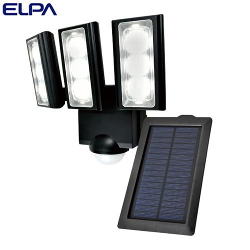 朝日電器 ELPA LEDセンサーライト 3灯 ソーラー発電式 屋外用 ESL-313SL