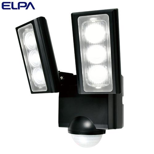 朝日電器 ELPA LEDセンサーライト 2灯 乾電池式 屋外用 ESL-312DC