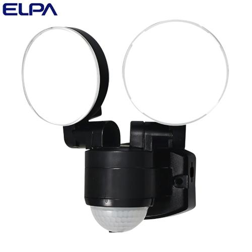 朝日電器 ELPA LEDセンサーライト 2灯 コンセント式 (AC電源) 屋外用 ESL-SS412AC