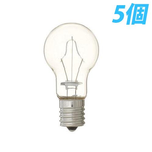 ヤザワ 白熱電球 白熱灯 省エネクリプトン球 E17口金 40W形 クリア 5個入パック P351736C5P