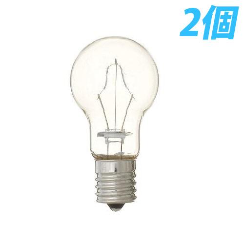ヤザワ 白熱電球 白熱灯 省エネクリプトン球 E17口金 60W形 クリア 2個入パック