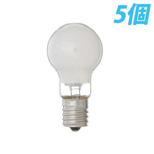 ヤザワ 白熱電球 白熱灯 省エネクリプトン球 E17口金 60W形 フロスト 5個入パック P351754F5P