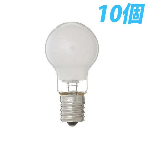 ヤザワ 白熱電球 白熱灯 省エネクリプトン球 E17口金 60W形 フロスト 10個入パック P351754F10P