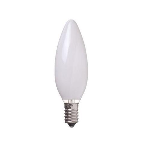 【売切れ御免】ヤザワ 白熱電球 白熱灯 シャンデリア球 E14口金 60W形 ホワイト C321460W