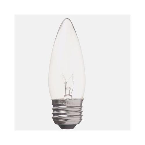 ヤザワ 白熱電球 白熱灯 シャンデリア球 E26口金 40W形 クリア C372640C
