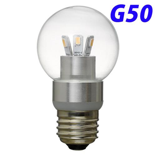 【売切れ御免】ヤザワ LED電球 LEDランプ G50ボール形 E26口金 電球色 LDG3LG50