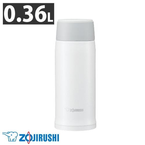 【売切れ御免】象印 ステンレスマグ スクリュータイプ 0.36L ホワイト SM-NA36-WA
