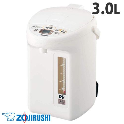 象印 電動ポット 優湯生 3L ホワイト CV-TZ30-WA